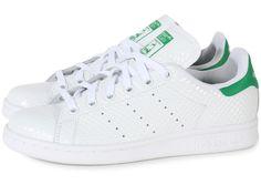 Chaussures adidas STAN SMITH Nid d'Abeille Blanche et Verte vue extérieure