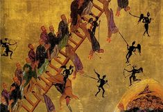 "The Fourth Sunday of Great Lent in the Orthodox Church, is dedicated to St. John Climacus, the author of the ancient work, The Ladder of Divine Ascent. It is a classic work describing ""steps"" within the life of the struggling ascetic. There is an icon associated with this work, picturing monastics climbing the rungs of ...  Read More →"
