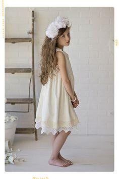 The Luna Vintage Lace Flower Girl Dress White Cotton Dot – Fleur + Dot