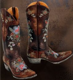 Every girl needs a great pair of cowgirl boots!  These WILL be mine.