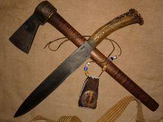 Long knife,belt and axe