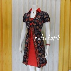 Rekomendasi untuk anda yang sedang mencari baju batik murah dengan desain dress wanita lengan pendek berbahan jenis katun yang dijual ditoko online pakaian batik murah