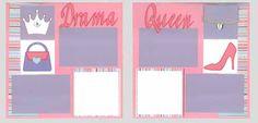 Drama Queen Scrapbook Layout Kit