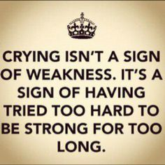 I couldn't agree more. In fact, I felt this way today. But I stayed strong a little longer......