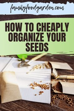 Learn how to cheaply organize your seeds today! Organize your seeds using these helpful tips. Check it out! #garden #gardeningtips #seedorganization Healthy Fruits And Vegetables, Personal Taste, Garden Planning, Helpful Tips, Family Meals, Gardening Tips, Garden Ideas, Organize, Seeds