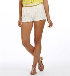 Ivory Lace Shorts...my summer essential. I catch myself buying tops to go with these awesome find