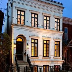 French Limestone Home, French, home exterior