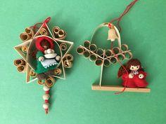 VTG Shaved Wood Christmas Ornaments Girl Figurine Kurt S. Adler #Christmas