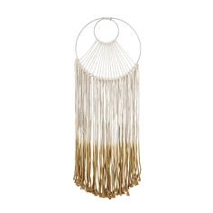 Bloomingville Wall decoration macramé by Bloomingville - Macrame weaved from string are back in favor! Such wall decoration is simply created for Scandinavian and rustic style interiors, where it will Cream Walls, Beige Walls, Wall Ornaments, Tree Wall Decor, Boho Stil, Honey Colour, Wall Carpet, Red Bricks, Hallway Decorating