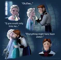 Hans and Elsa, this comic is an interesting idea for how Frozen could have been.