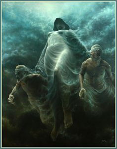 I love this guy's art - the imagery, the surrealism, and the work itself. This image especially captures & conveys something for me. I sense stories untold and worlds to unfold in these incredible, beautiful masterpieces. http://alenkopera.com/artist.html http://alenkopera.com/J35.html http://www.artandprestige.pl/en-gb/ourartists/tomaszalenkopera.aspx