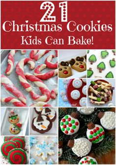 21 Christmas Cookies Kids Can Bake! Easy Christmas Cookie Recipes ideal for kids to bake or help decorate! Perfect for gifting to family and friends, sharing in the classroom, and leaving for Santa on Christmas Eve!