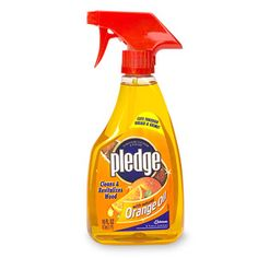 Pledge with orange oil for your stainless steel appliances, makes then shine & no finger prints,no water stains. Use it on your kitchen sink for a shine you wont believe ,great to shine wood & cook tops. One bottle lasts at least 2 years.My son also uses it on his R.O.T.C. brass buckle & to shine his shoes it hides scratches & scuff marks!