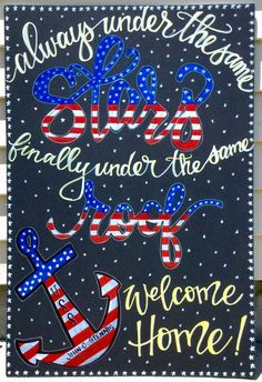 Military homecoming sign / Deployment Sign / Welcome Home / Armed Forces / Navy . Marine Homecoming, Military Homecoming Signs, Homecoming Posters, Military Signs, Military Mom, Military Crafts, Homecoming Dresses, Welcome Home Son, Welcome Home Signs For Military