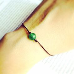 A personal favorite from my Etsy shop https://www.etsy.com/listing/494045752/aventurine-wish-bracelet-friendship