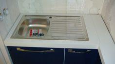 Mobila Bucatarie MDF Vopsit Albastru cu Alb chiuveta incastrabila Sink, Home Decor, Sink Tops, Vessel Sink, Decoration Home, Room Decor, Vanity Basin, Sinks, Home Interior Design