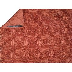 Rosette Satin Orange Fabric by the yard