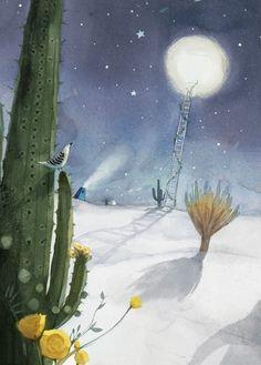 Watercolor illustrations. Kim Min Ji.