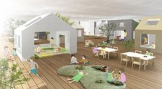The Architecture of Early Childhood: Rooms within rooms or a mini suburb?