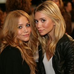 So pretty, how am I not more obsessed with them?  Eyes, cheek bones, brows, hair, lips ugh! ....Olsen twins