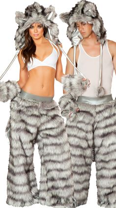 sexy rave wolf couples costume womens wolf costume mens wolf costume wolf pants - Womens Wolf Halloween Costume