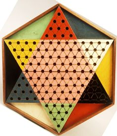 6-Color, 6-Sided Chinese Checkers Gameboard