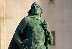 Leif Eriksson in Iceland: A statue of Leif Eriksson in Reykjavik, Iceland. Many believe that this famous Viking explorer was the first European to reach North America, sometime around the year 1000. (Photo Credit: Macduff Everton/CORBIS)