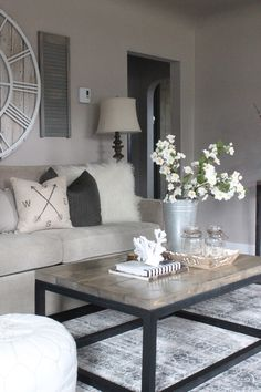3 Ways to Style a Coffee Table | My Home + Blog | Pinterest | Coffee ...
