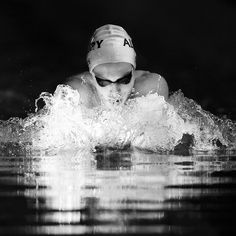 Swimming senior photo. Love the water action.