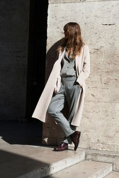 #CarolineDeMaigret sleek menswear separates. Paris