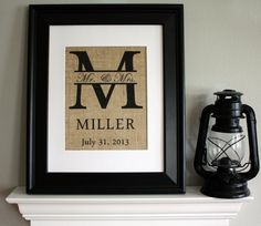 Monogram with Family Name and Date by AppalachianCharmVA on Etsy, $18.00