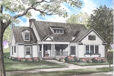 Country Style House Plan - 3 Beds 2.00 Baths 2148 Sq/Ft Plan #923-35 Exterior - Front Elevation