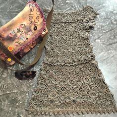 Perfect match for this sunny saturday ❤️❤️❤️ #vanessamontorostyle #handmadeluxurydresses #vanessamontorocrochet