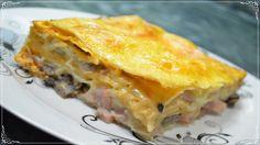 Пирог из лаваша с сыром, грибами и ветчиной! Простой, пошаговый рецепт в духовке [Семейные рецепты] Сегодня я расскажу, как приготовить пирог из лаваша с сыр...