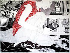 Carine Brancowitz - ballpoint pen art