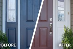 Improve your home's curb appeal by giving your front door a fresh coat of paint quickly and easily. SnapDry™ door and trim paint dries in just one hour!