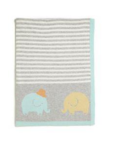 Elegant Baby - Baby's Elephant Knit Blanket