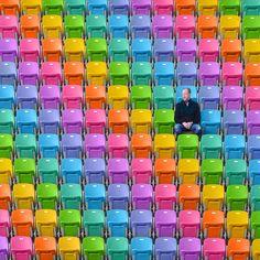 Waw: deze artiest tovert de wereld om tot een regenboogparadijs