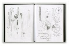 More sketches from Clock for a Filmmaker. Design by Daniel Weil.
