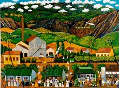 """Sugar Cane Days, Maui"" by Guy Buffet for availability call Lahaina Galleries or visit site (808)661-MAUI"