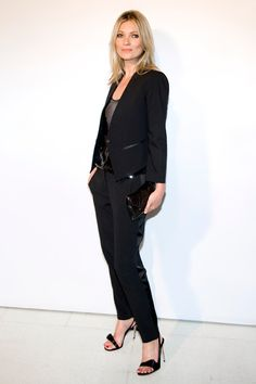 Kate Moss in the classic tuxedo is timeless.