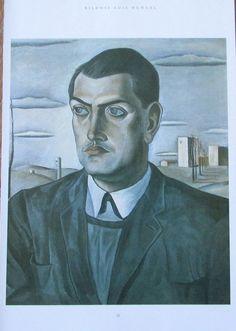 Salvador Dali BILDNIS LUIS BUNUEL Kunstdruck Reproduktion spanische Kunst