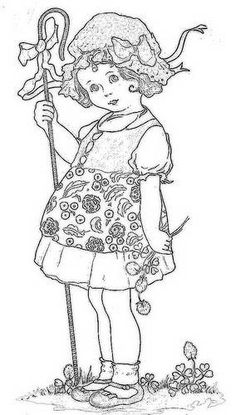 A ton of FREE little girl hand embroidery patterns