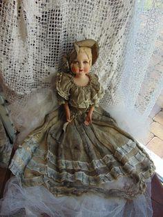 antike Kinder Boudoir Doll
