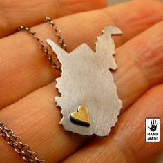 WEST VIRGINIA State sterling silver pendant sterling by StefanoArt