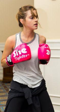 Emma Watson boxing.