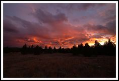Big Sky Sunset Framed - West Yellowstone, Montana. Sunset in Big Sky Country is…