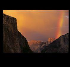 Nancy Robbins Photography - Rainbow over Half Dome in Yosemite National Park. #rainbow #Yosemite #visitCA #DreamBig