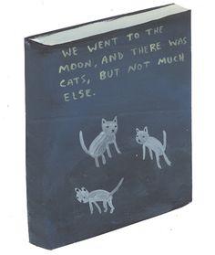 Nós fomos para a lua e lá tinha gatos, mas nem tantos