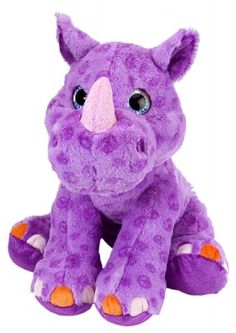 Sweet & Sassy Purple Rhino (12-inch) at theBIGzoo.com, a family-owned toy store.